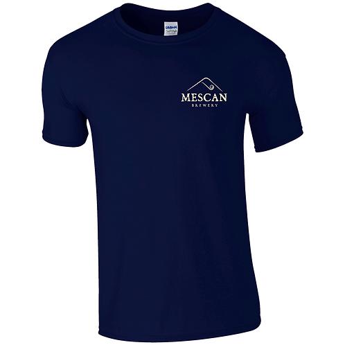 Mescan Classic T-Shirt Navy Standard Fit