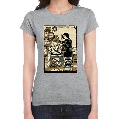 Mescan T-Shirt Grey Ladies Fit