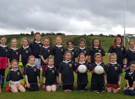 U6 and U6 girls' first outing against Burrishoole
