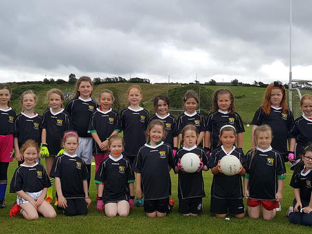 U6 and U6 girls' first outing against Burrishoole