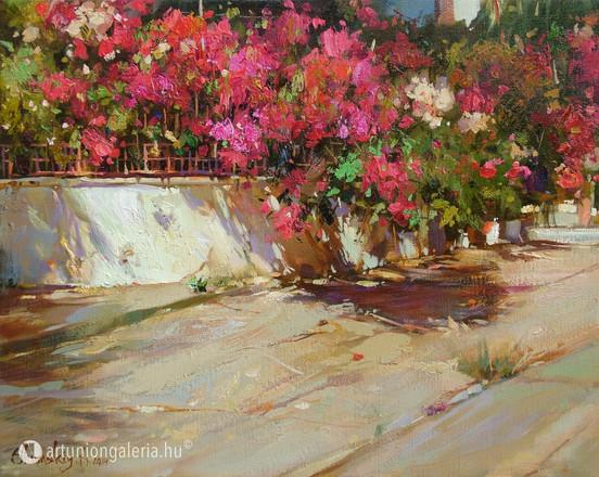 """Shymski Andre """"Mediterrán nyár"""" festmény eladó"""