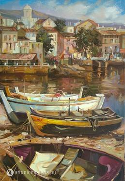 """Shymski Andre """"Délutáni nyugalom"""" festmény eladó"""