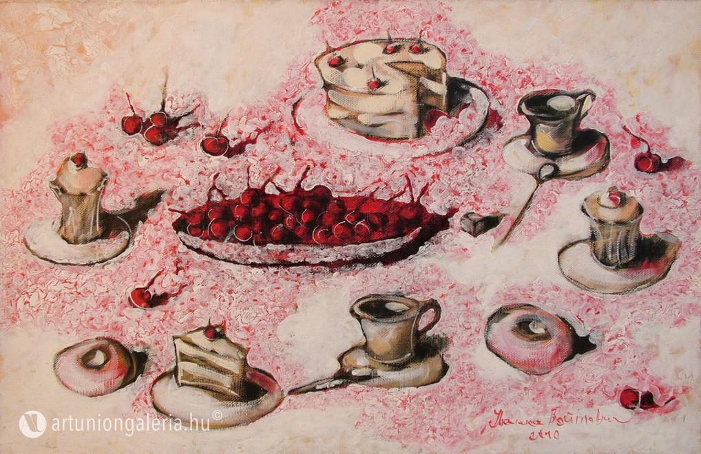 """Voytovych Ivanka """"Ünnepi asztal"""" festmény eladó"""