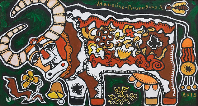 elado-festmeny-Manajlo-Prihogyko-Viktoria-festomuvesz-Pasztorlany-es-a-Borju-artunion-galeria