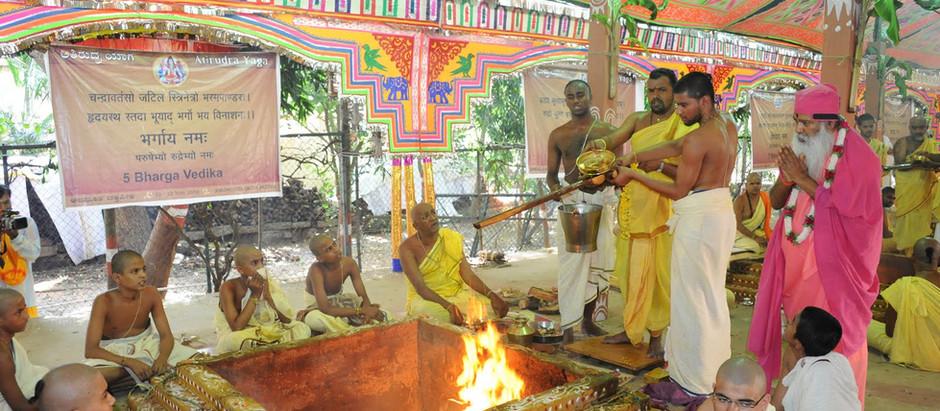 Preparing for Maha Rudra Yagna