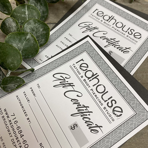Gift Certificate -Various Amounts