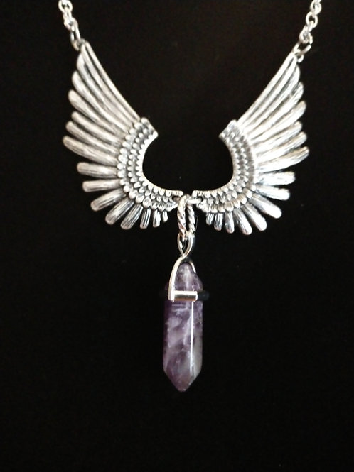 Winged Amethyst Pendant