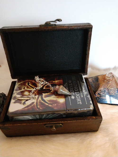 Healing Light Tarot & Pendulum Box set