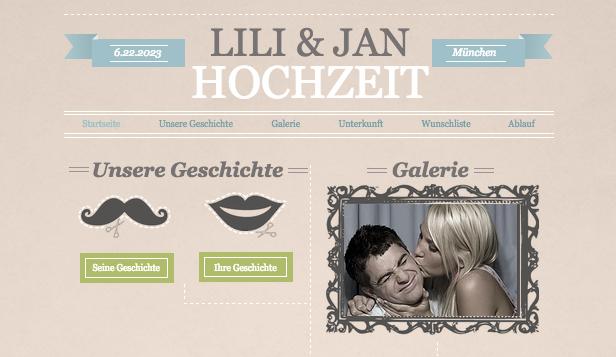hochzeit feiern website templates funky verlobung - Hochzeitshomepage Beispiele