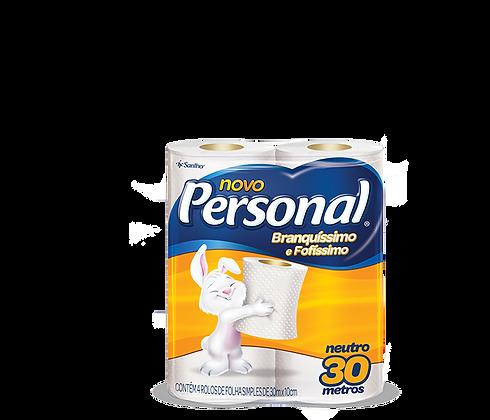 Papel Higiênico Personal (Folha Simples) 30 m Pacote c/ 4 rolos