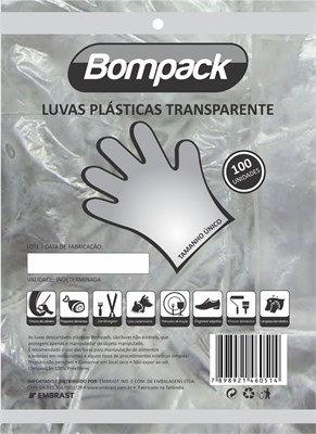 Luva Plástica Descartável c/ 100 unidades