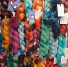 Hand dyed fibre