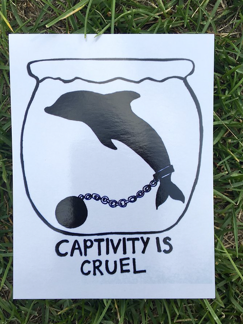 Vegan Veins Postcard- Captivity Is Cruel