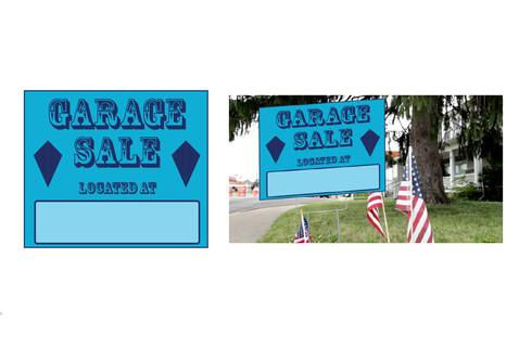 Created Garage Sale Sign