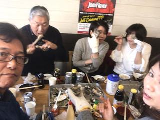 恒例の牡蠣食べ放題ツアー