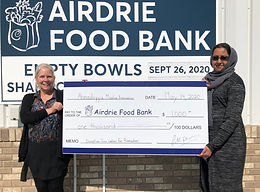 Muslim women's group makes generous donation to the Airdrie Food Bank during Ramadan
