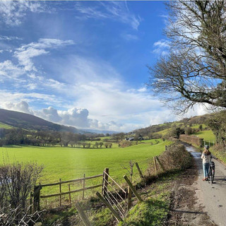 UK eBike Holiday Cycling through quiet l