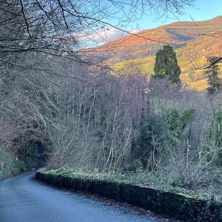 Quiet lane Cycling Route near Crickhowel