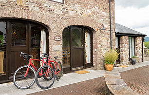 08 Outside Oaktree with Trek Bikes Stand