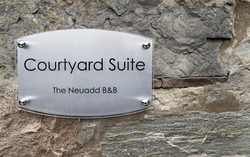 Courtyard Suite Entrance Sign