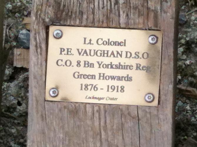 Lochnagar Crater walkway plaque