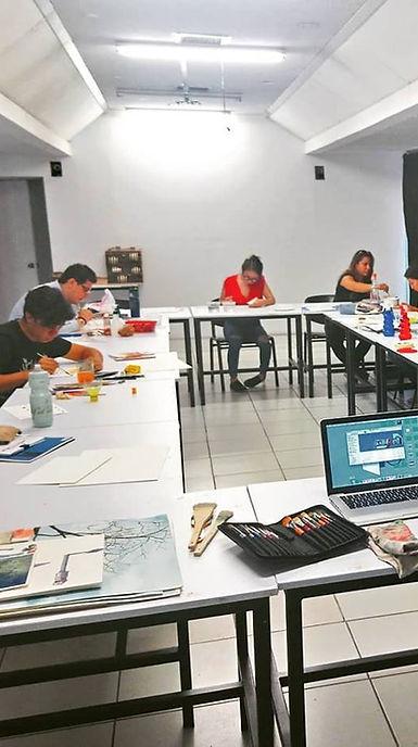 Alumnos durante el proceso de diseño