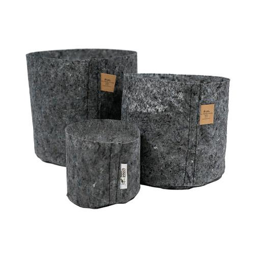ROOT POUCH - VASO IN TESSUTO CHARCOAL 30L