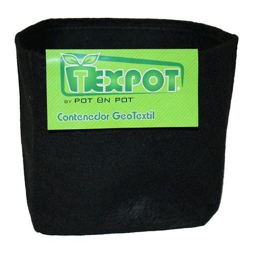 TEXPOT - VASO IN TESSUTO NERO - 15L