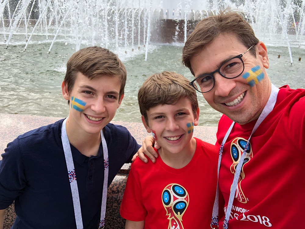 seeing the sites of the world cup rooting for sweden!