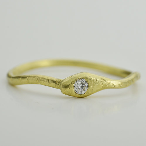 Serpent Ring With Diamond