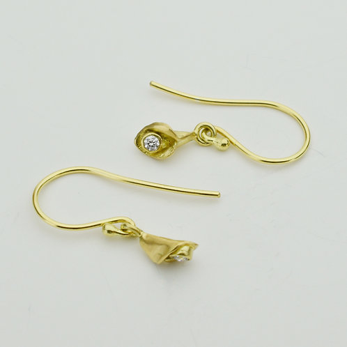 Tiny Calla Lily Earrings