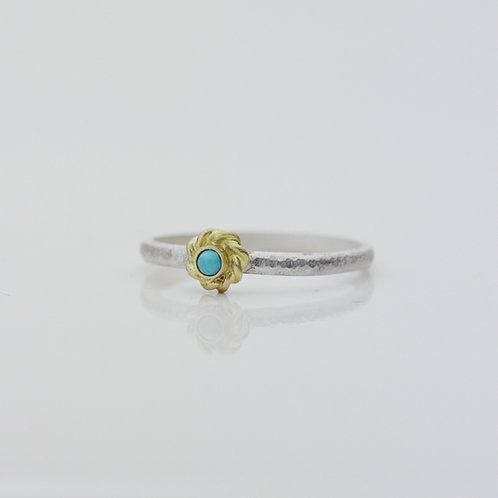 Framed Turquoise Ring