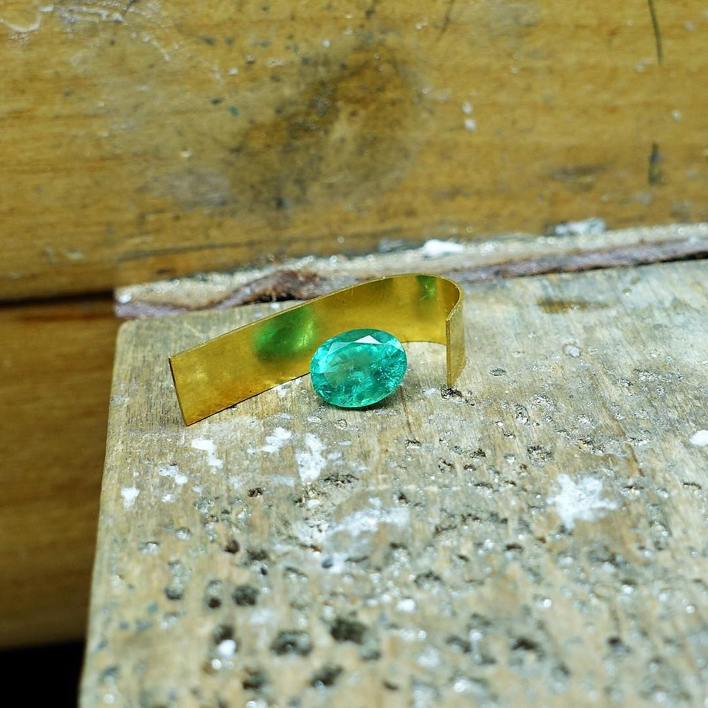 Loose Emerald I'm about to set in this Bezel