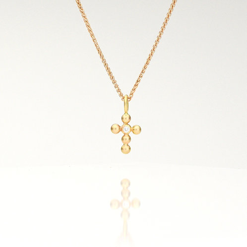 Rose Gold Cross With Diamond