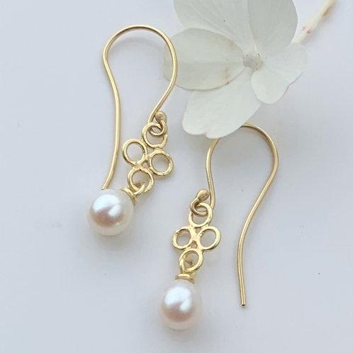 Freshwater Pearl Lace Drop Earrings