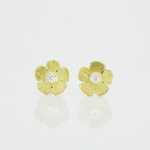 Medium Flower Diamond Studs