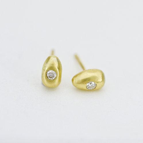 Mini Golden Egg Earrings