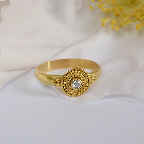 """22k Gold and 18k Gold """"Etruscan Style"""" Ring"""