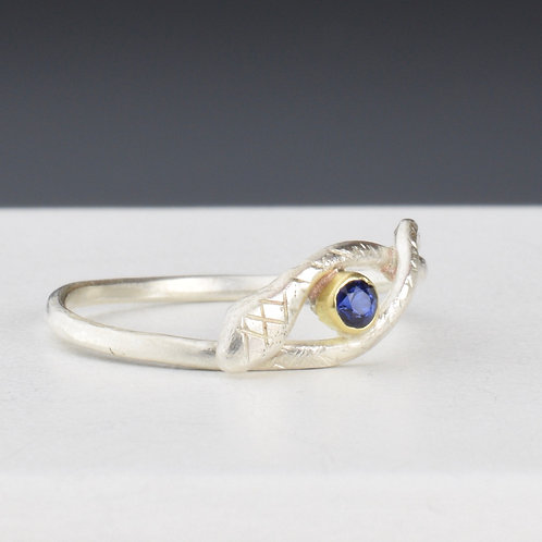 Serpent Ring With Sapphire