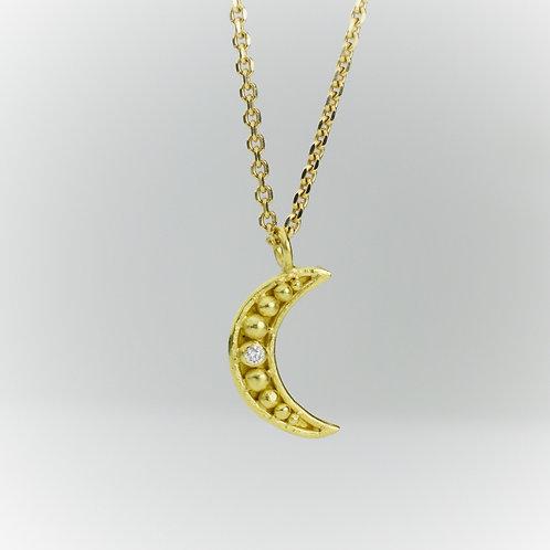 Crescent Pendant with Diamond