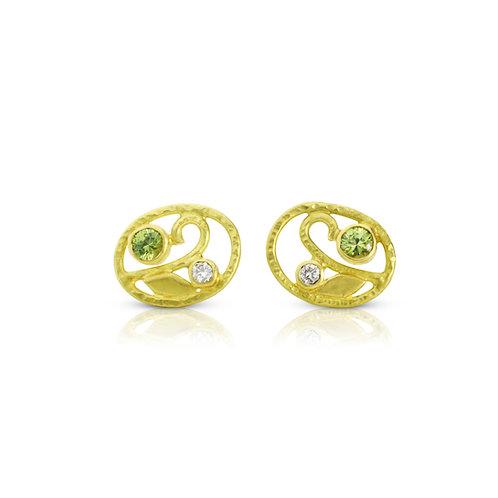 Oval Deco Earrings