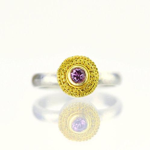 Rhodolite Garnet  Fringe Ring in 22k