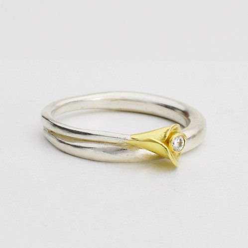 Calla Lily Diamond Ring