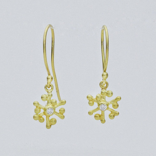 Dancing Snowflake Earrings with Diamond