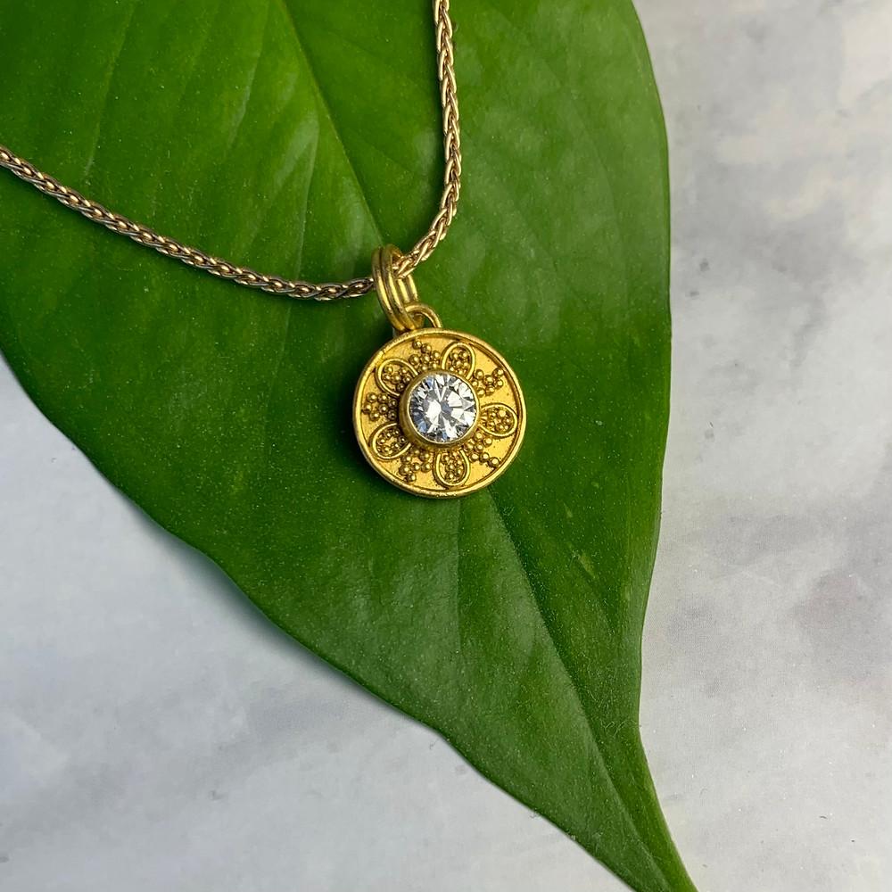 22k custom diamond necklace