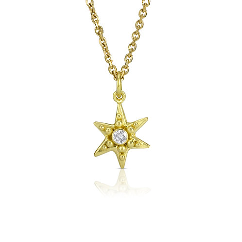 Star Pendant with Diamond , Pendant only without chain