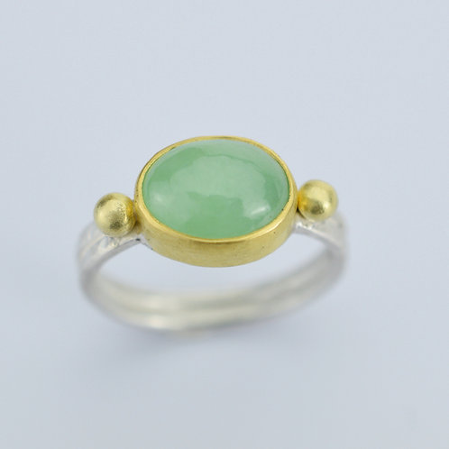 Jadeite Ring In 22k, 18K and Sterling Silver