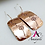 Thumbnail: Dandelion earrings, copper earrings, rectangle earrings, hand stamped jewelry