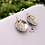 Thumbnail: Sterling silver earrings, Hammered circle disc earrings, Rustic silver earrings