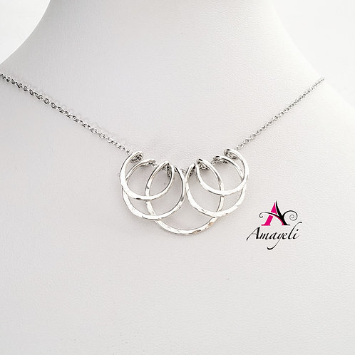 Layered sterling silver minimalist fashion necklace handmade